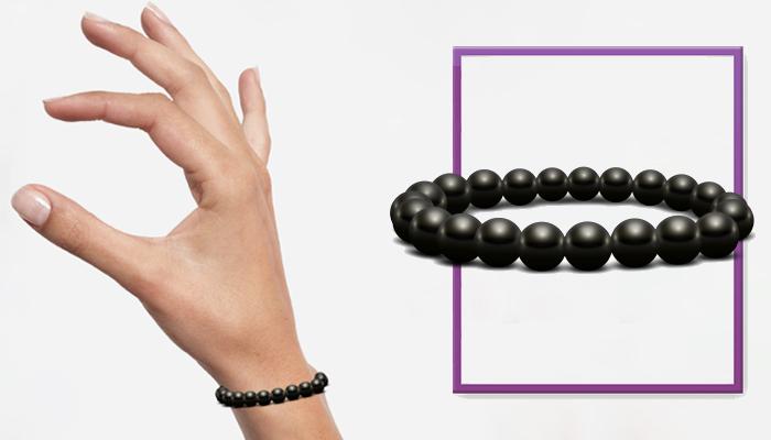 Bracelet Bianchi: pulseira de shungite negra para a sua longevidade!