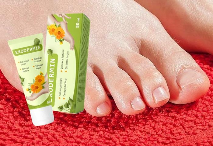 Exodermin do fungo dos pés e das unhas: creme natural para uso externo!